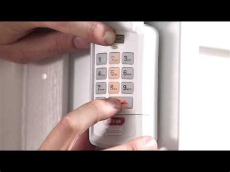 wireless keypad installation programming resetting pin