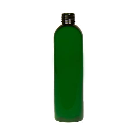 cosmopolitan bottle 8 oz green pet cosmo round bottle with 24 410 neck cap