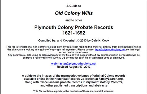 plymouth county probate records genea musings plymouth colony records indexes for probate
