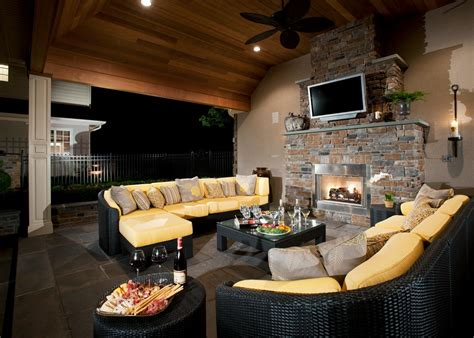 outdoor electric fireplace options hgtv
