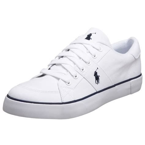 polo sneakers mens polo ralph mens harold sneaker in white for lyst