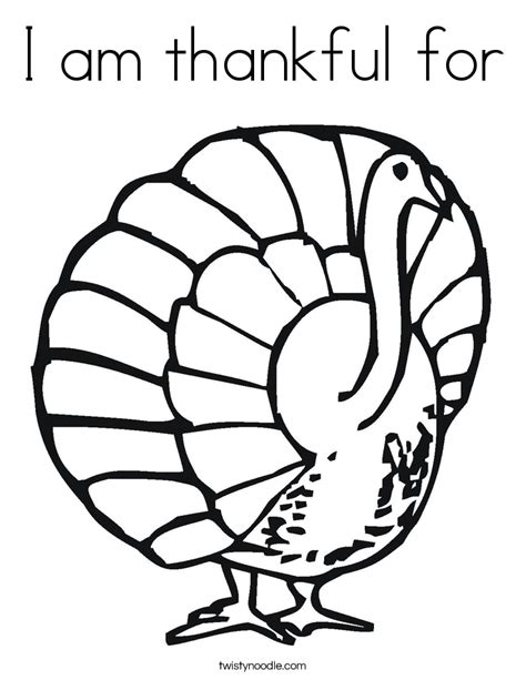 i am thankful for turkey coloring page coloring pages