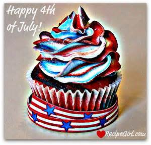 blue cupcakes recipe girls fourth of july holidays