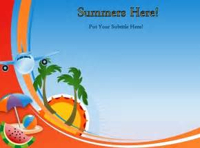 summer powerpoint templates animated summer template for powerpoint