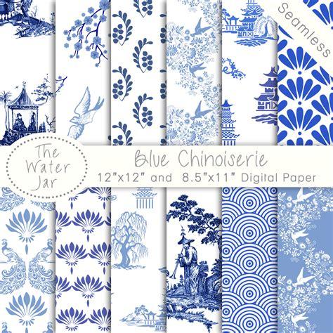 wallpaper blue china chinoiserie wallpaper china blue digital paper pack