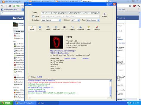 tutorial deface website dengan havij tutorial meretas website dengan havij