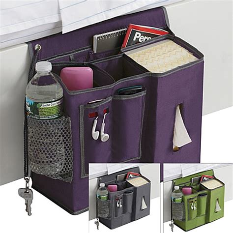 bed caddy polyester bedside caddy bed bath beyond