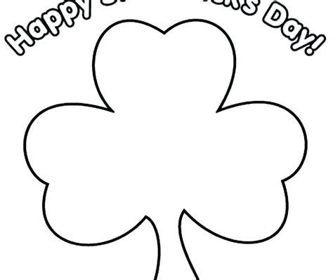 small template printable free large shamrock template coloring printable small