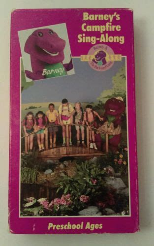 barney and the backyard gang cfire sing along barney barneys cfire sing along vhs 1990 classic