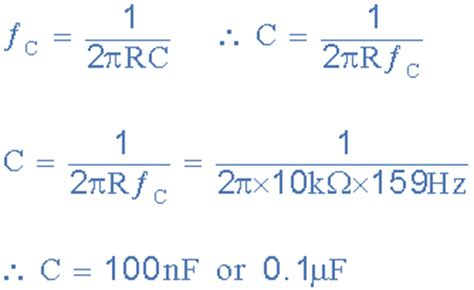 capacitor filter cutoff frequency second order filters second order low pass filter