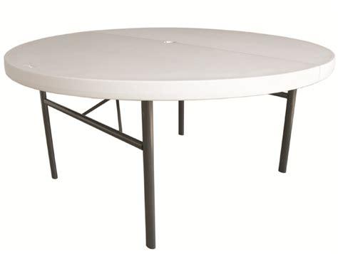 mesas para jardin de plastico mesa de plastico verona plegable redonda beige 2 000