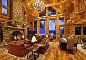 luxury log home interiors log cabins