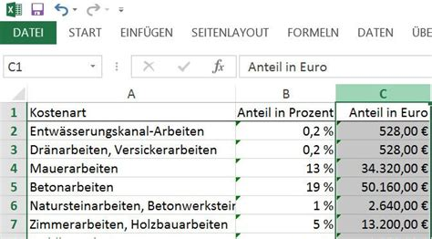 Baukosten Einfamilienhaus 2016 by Baukosten Rechner 2015 F 252 R Excel Giga