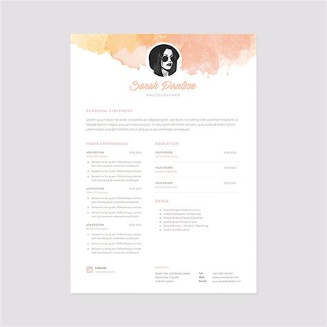 creative cv templates etsy creative resume template instant download cover letter