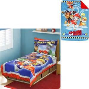 paw patrol toddler bedding set with bonus blanket