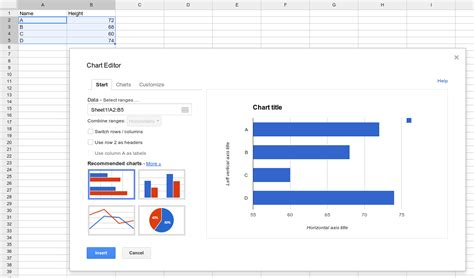 Spreadsheet Charts charts in spreadsheets spreadsheets
