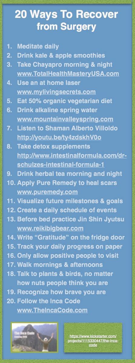 Post Surgery Detox by 25 Best Ideas About Surgery Recovery On