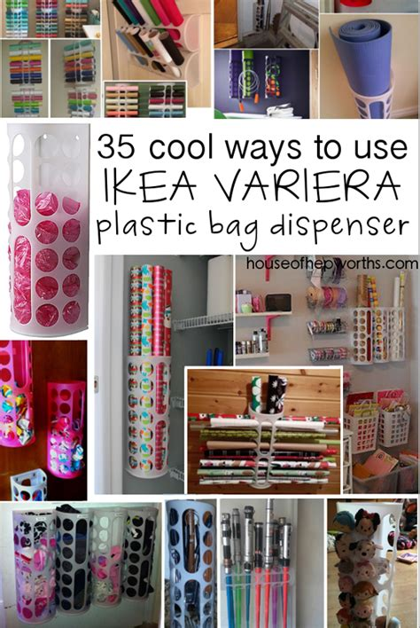 Variera Plastik 35 uses for ikea s variera plastic bag dispenser house