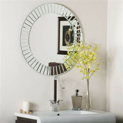 Wall Mirrors Bathroom - frameless beveled glow wall mirror modern bathroom ebay