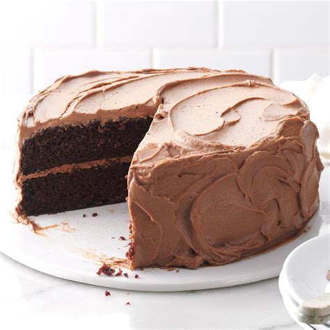 chocolate cake with chocolate frosting recipe taste of home