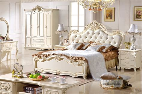 antique royal european style solid wood 5pcs bedroom bedroom furniture classic best home design 2018