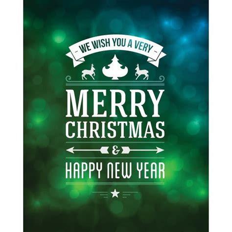 vector      merry christmas  happy  year typography  blue  green