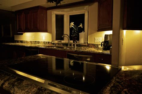 Romantic Kitchen Decor Using Kitchen Cabinet Lighting With Undermount Kitchen Lighting