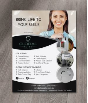 designcrowd makati dental flyer crowdsourced flyer design contests