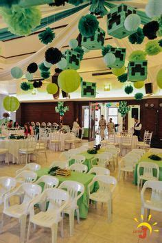 themed party rooms manila minecraft birthday backdrop google search aidan b day
