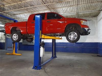 Car Lift Low Ceiling by Heavy Duty Low Ceiling Truck Lift That Offers An Open Top To Accommodate Vans Taller Trucks And