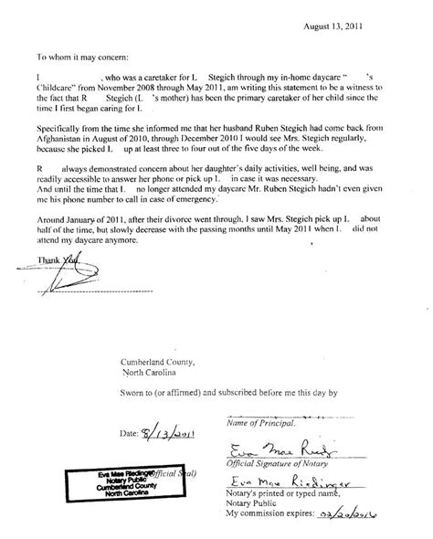 Notarized Divorce Letter Ruben Alejandro Stegich