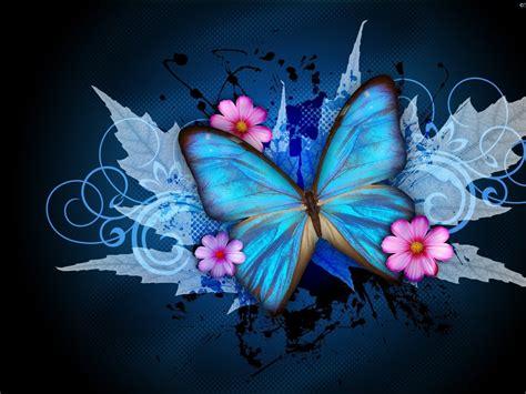 abstract butterfly flowers desktop pc  mac
