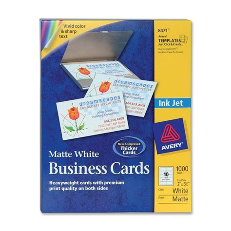 using avery business card templates in word printer