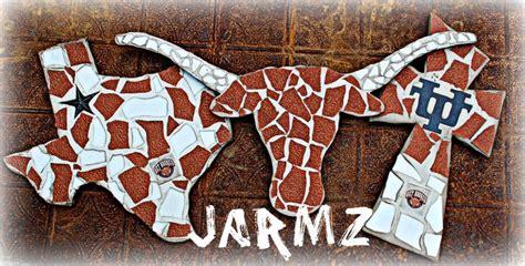 texas longhorns home decor texas longhorn by jarmz decor mosaics quot facebook quot hooked