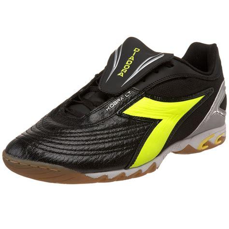 indoor shoes diadora kobra lt id indoor soccer shoe in black for