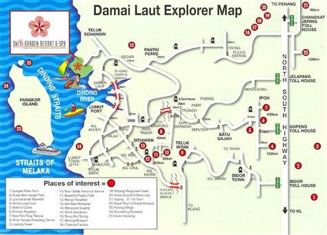 damai resort map swiss garden resort and spa damai laut pangkor island