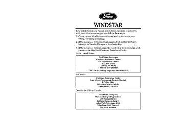 how to download repair manuals 1997 ford windstar seat position control 1997 ford windstar owner s manual pdf 385 pages