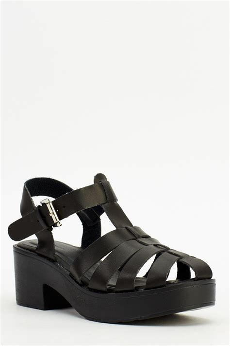 block heel black sandals strappy block heel sandals black or white just 163 5