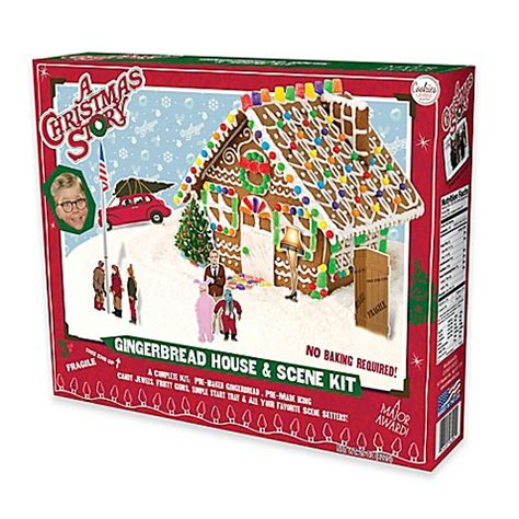 christmas gingerbread house to buy buy cookies united quot a christmas story quot gingerbread house and scene kit from bed bath beyond