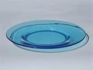 colored glass plates 12 antique aqua blue color glass salad plates vintage