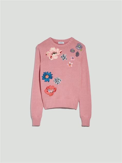 Logo Duetto Shirt sweater with floral accents pink pattern quot duetto