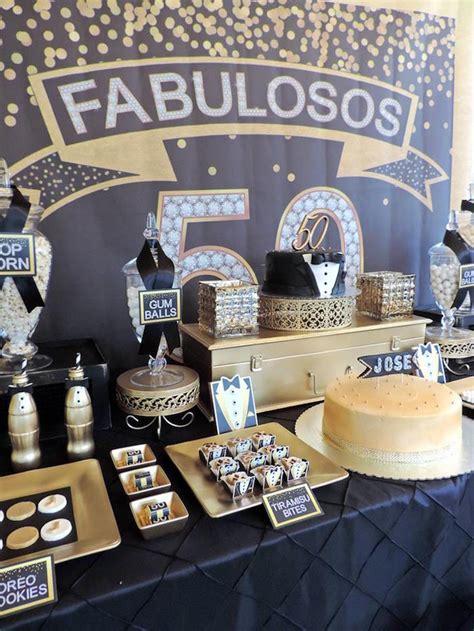 Black And Gold Birthday Decorations by Kara S Ideas Fabulous 50th Black Gold Birthday