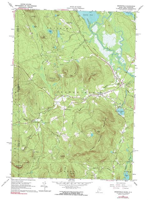 brownfield map brownfield topographic map me nh usgs topo 43070h8