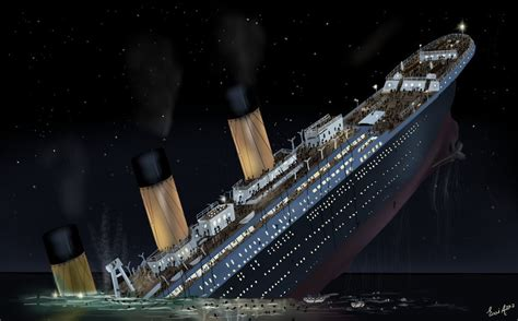 pictures of the titanic sinking the sinking of titanic titanic