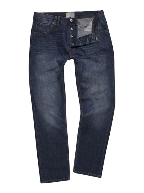 bench jeans for men bench anti fit loose jeans in blue for men denim lyst