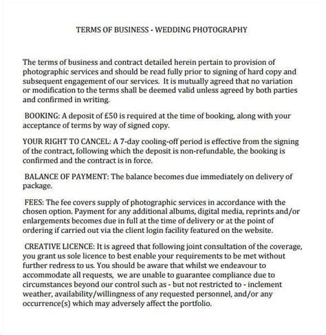 20 Photography Contract Template Commercial Photography Contract Template