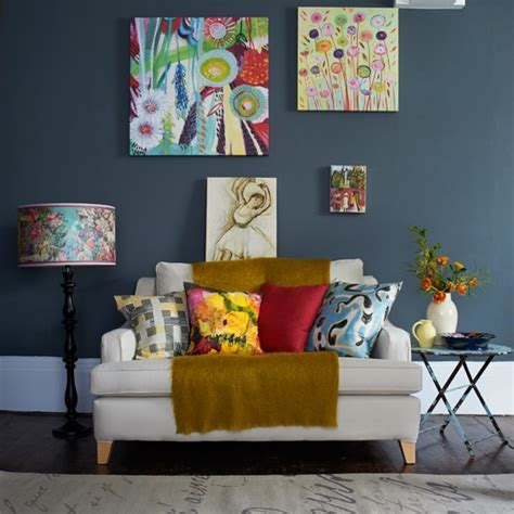 living room cushions uk grey living room with bright cushions and artwork