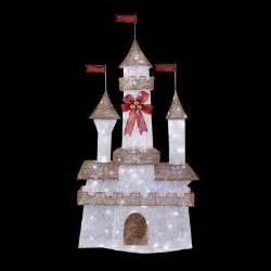 Home Depot Christmas Decoration Home Accents Holiday 6 Ft Pre Lit Twinkling Castle Ty373