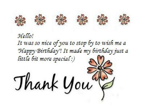 Thank You Notes for Birthday Wishes   Holidappy