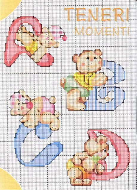 lettere punto croce bambini schemi punto croce alfabeto bambini zf11 pineglen